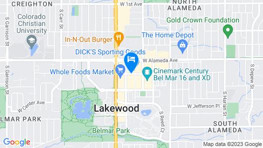 Hyatt House Denver/Lakewood at Belmar Map