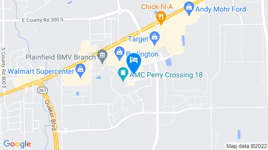 Courtyard by Marriott Indianapolis Plainfield Map