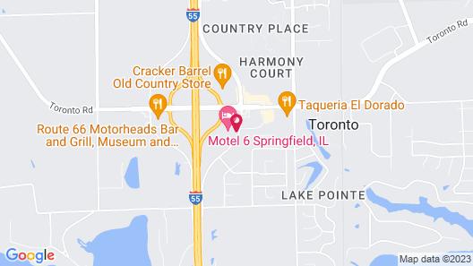 Motel 6 Springfield, IL Map