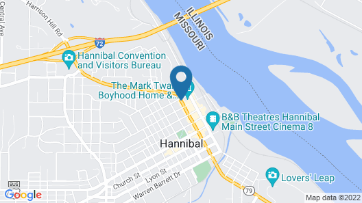 Best Western On The River Map