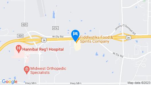 Quality Inn & Suites Hannibal Map