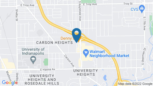 Comfort Inn Indianapolis South I-65 Map