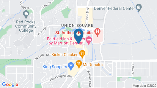 Hampton Inn Denver West Federal Center Map