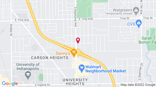 Americas Best Value Inn Indianapolis S Map