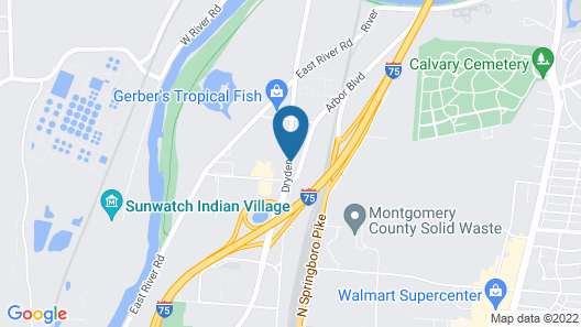 Red Roof Inn Dayton - Moraine/U of Dayton Map