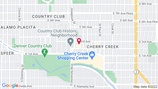 Halcyon - a hotel in Cherry Creek Map