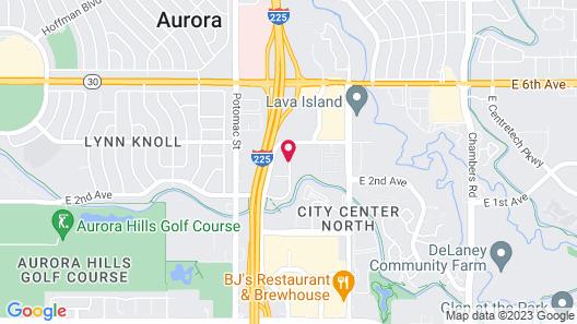 Courtyard by Marriott Denver Aurora Map