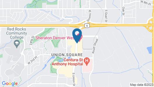 Sheraton Denver West Hotel Map