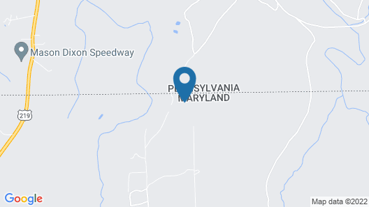3BR Cabin in the Woods Near Deep Creek and Wisp Resort Areas Map