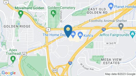 Hampton Inn-Denver West/Golden Map