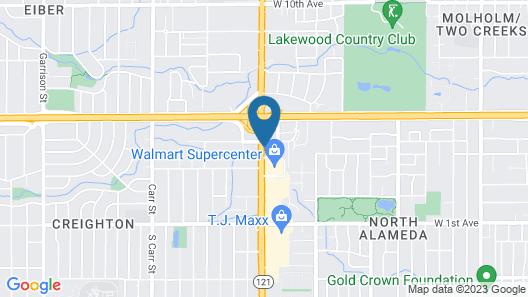 Motel 6 Lakewood, CO - Denver Map