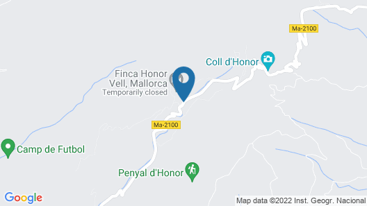 Finca Honor Vell Map