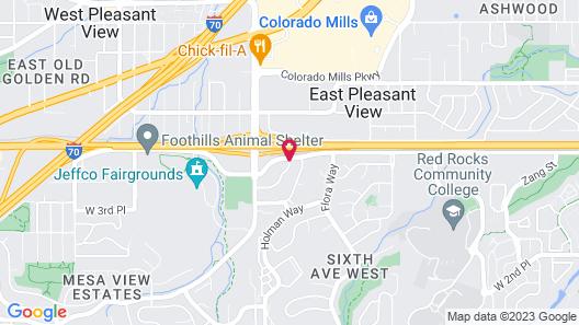 Residence Inn by Marriott Denver Golden/Red Rocks Map