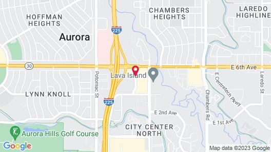 WoodSpring Suites Denver Aurora Map