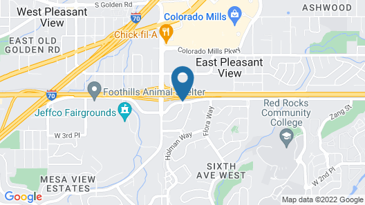 Courtyard by Marriott Denver Golden/Red Rocks Map