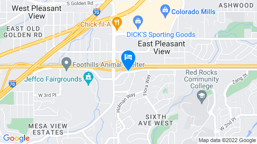 Courtyard by Marriott Denver Golden/Red Rocks Map