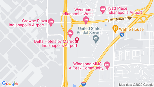 Extended Stay America Indianapolis - Airport Map