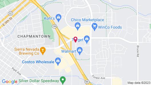 Oxford Suites Chico Map