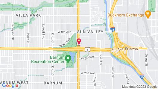 Comfort Suites Near Denver Downtown Map