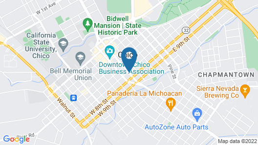 Quality Inn Chico Map