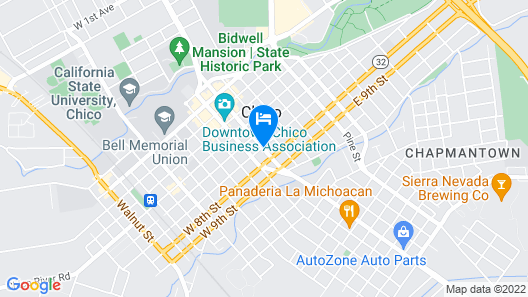 Quality Inn Chico Map