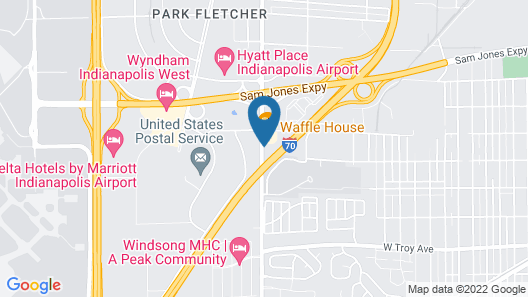 Red Roof Inn & Suites Indianapolis Airport Map