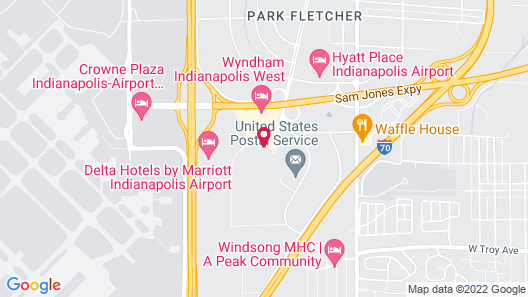La Quinta Inn by Wyndham Indianapolis Airport Executive Dr Map