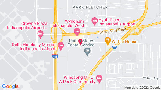 Holiday Inn Indianapolis Airport Area N Map
