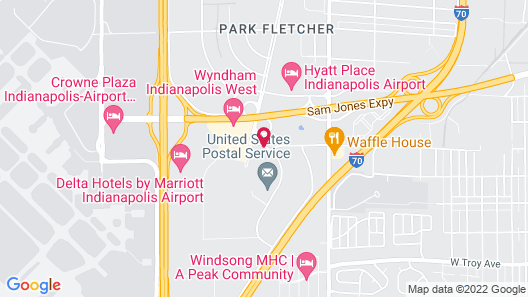 Courtyard by Marriott Indianapolis Airport Map