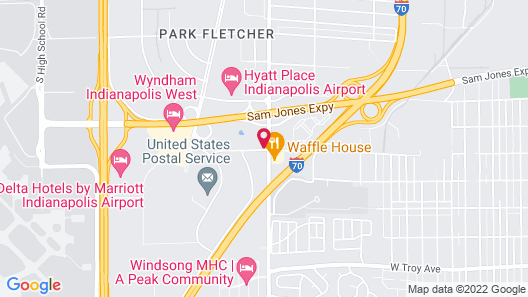 La Quinta Inn by Wyndham Indianapolis Airport Lynhurst Map