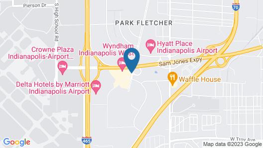 Wyndham Indianapolis West Map