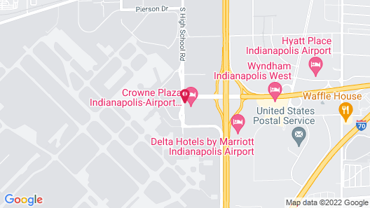 Crowne Plaza Indianapolis Airport, an IHG Hotel Map
