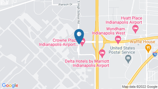 Crowne Plaza Indianapolis Airport Map