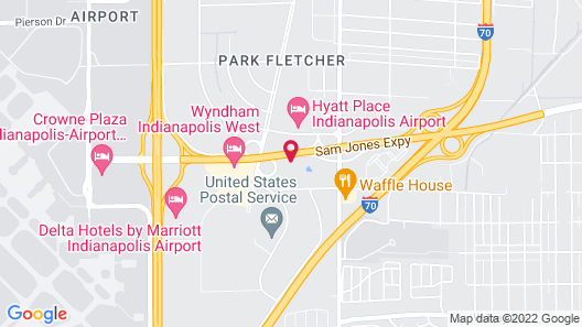 Extended Stay America - Indianapolis -Airport-W Southern Ave Map