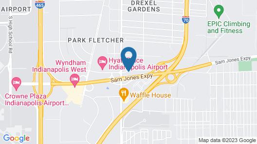 OYO Hotel Indianapolis International Airport Map