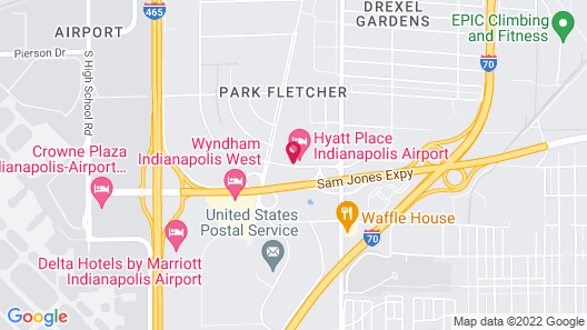 Hyatt Place Indianapolis Airport Map