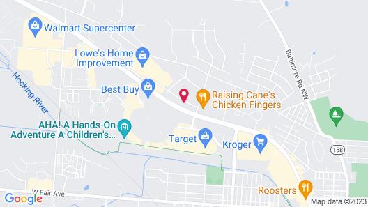 Hampton Inn Lancaster Map