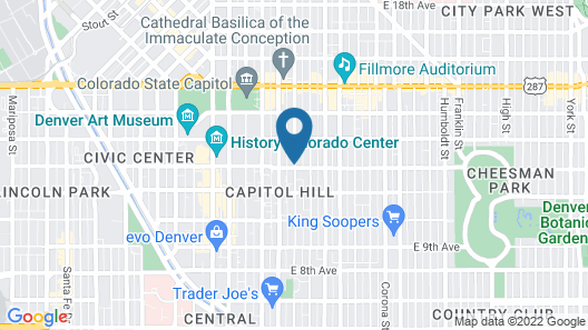 Capitol Hill Mansion B&B Inn Map