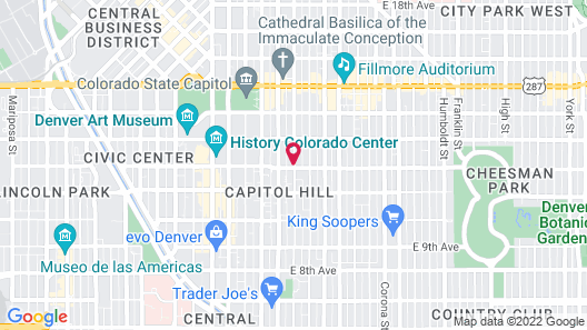 Capitol Hill Mansion Bed and Breakfast Inn Map