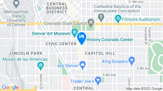 The Art Hotel Denver, Curio Collection by Hilton Map