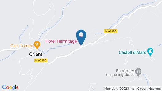 L'Hermitage Hotel & Spa Map
