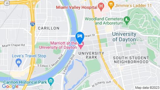 Marriott at the University of Dayton Map