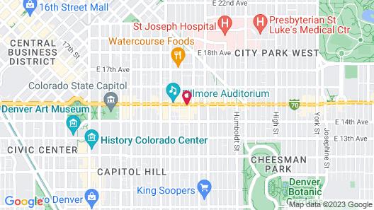 Days Inn by Wyndham Denver Downtown Map