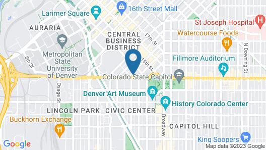 Staybridge Suites Denver Downtown, an IHG Hotel Map