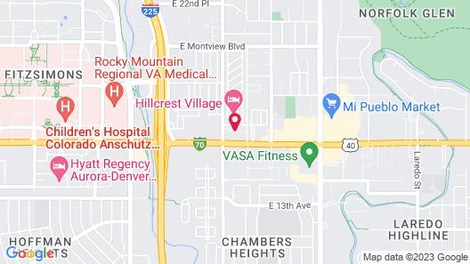 Comfort Suites Denver near Anschutz Medical Campus Map