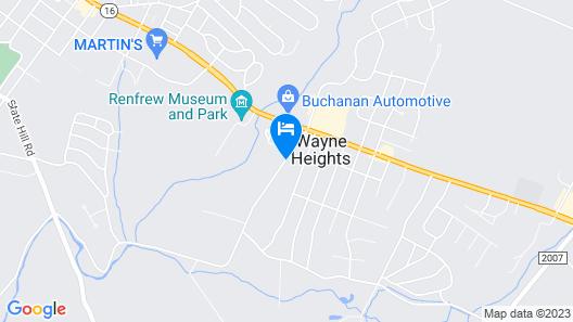 Cobblestone Hotel & Suites - Waynesboro Map