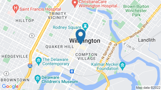 DoubleTree by Hilton Downtown Wilmington - Legal District Map