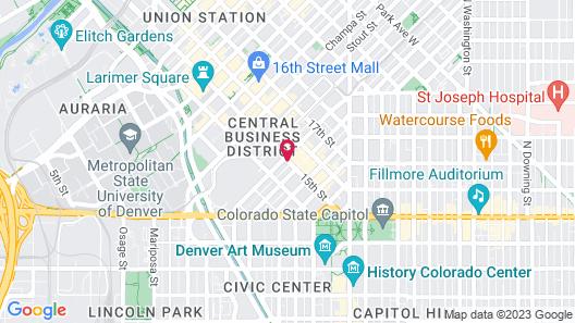 Hampton Inn & Suites Denver Downtown-Convention Center Map