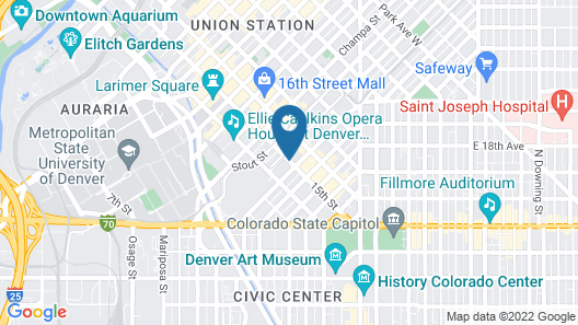 Hyatt Regency Denver at Colorado Convention Center Map