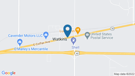 Country Manor Motel Watkins Map
